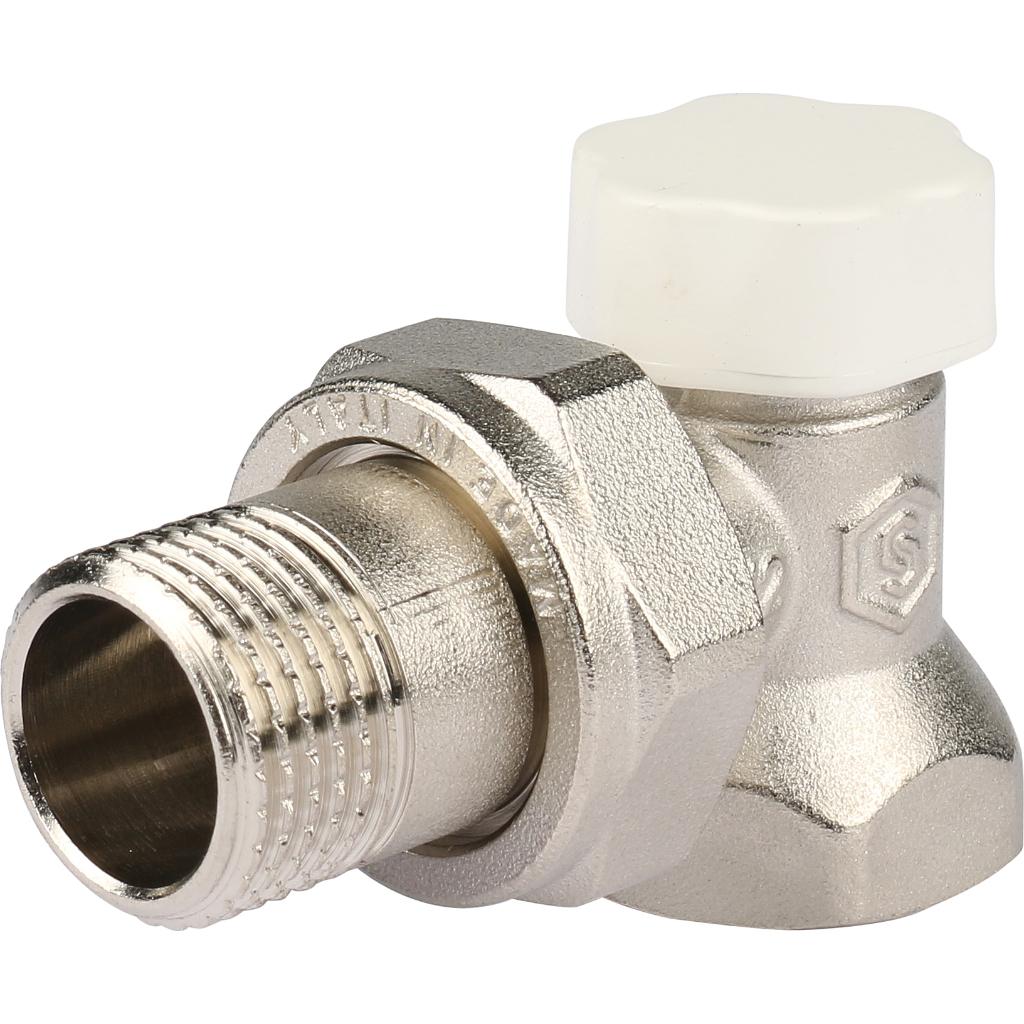 Клапан запорно-балансировочный, угловой 1/2 фото