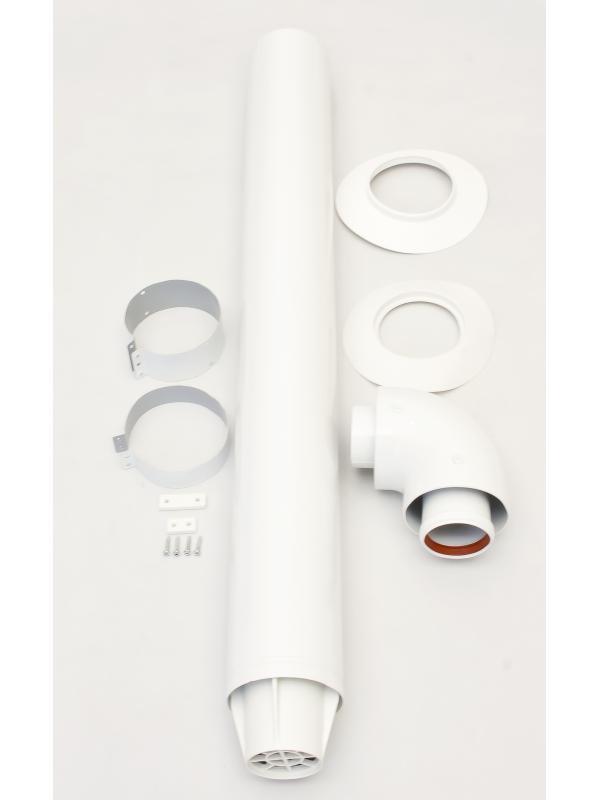 Комплект коаксиальный Ø60/100 - 1000 мм для горизонтального монтажа. фото