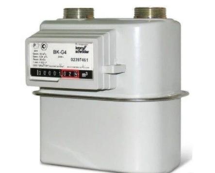 Счетчик газа бытовой ВК G4 Т левый фото