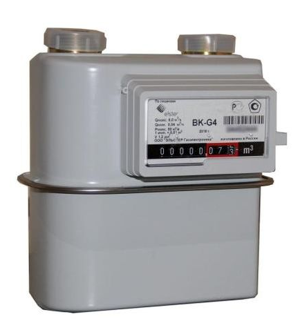 Счетчик газа бытовой ВК G4 левый фото