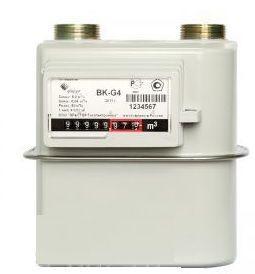Счетчик газа бытовой ВК G4 правый фото
