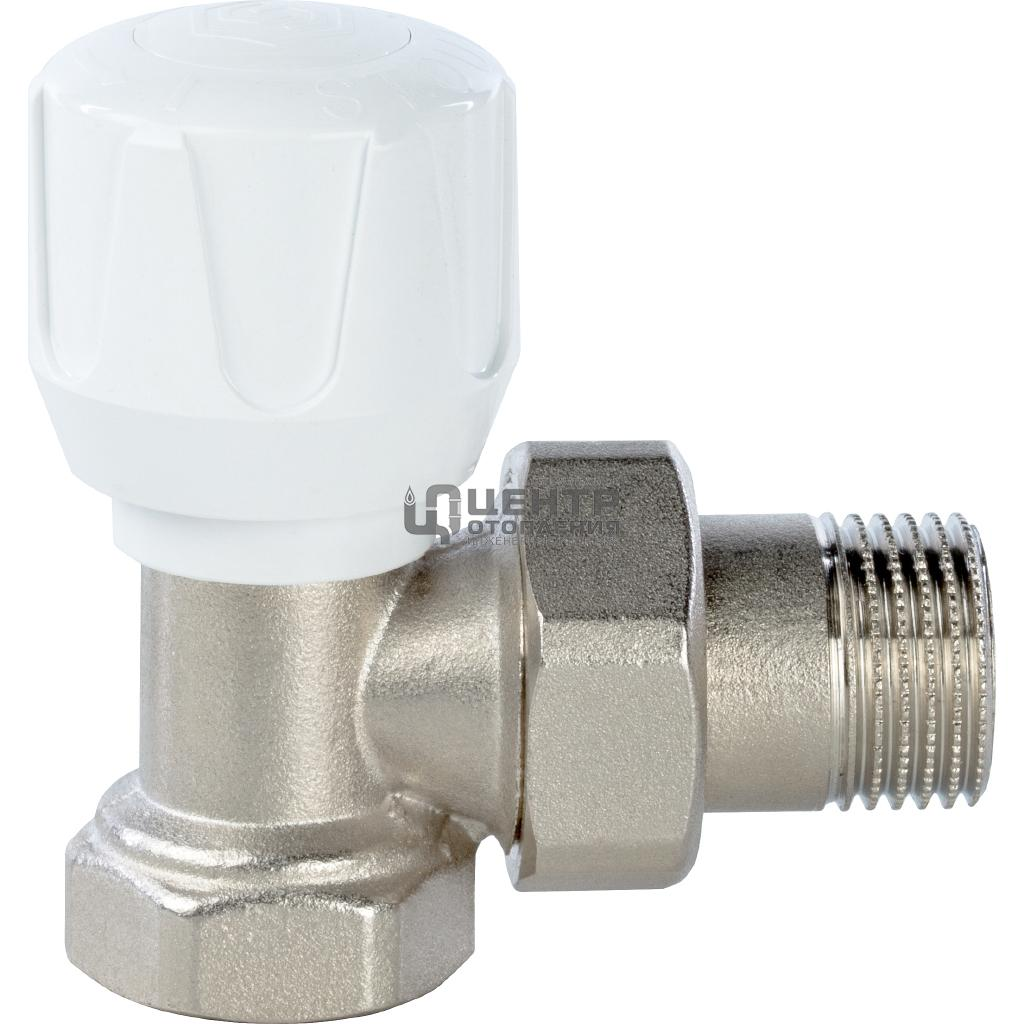 Клапан ручной терморегулирующий, угловой 1/2 фото